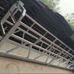 хөнгөн цагааны хайлш, zlp630 / 800-ийн хэлбэрийг барилгын цонхны барилгын ажлын тавцан дээр суурилуулсан гангаар хийсэн