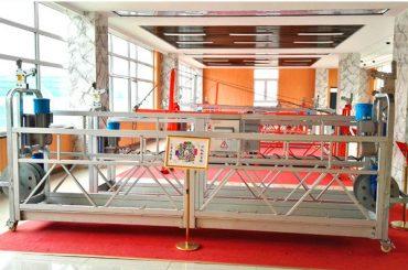 zlp630 хөнгөн цагааны түдгэлзүүлсэн платформ (ce iso gost) / өндөр өсөлт цонх цэвэрлэх тоног төхөөрөмж / түр зуурын түр зогсоол / өлгий / дүүжин үе шат халуун